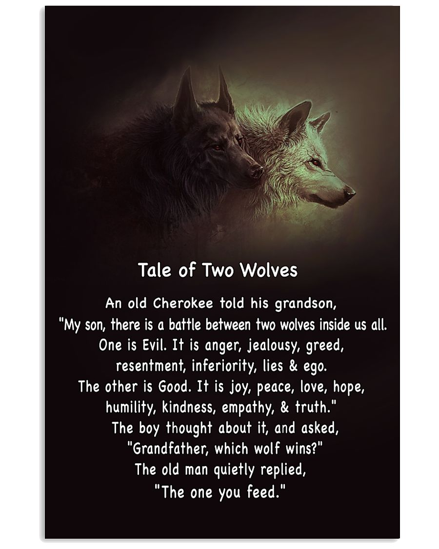[Image] – The Tale of Two Wolves