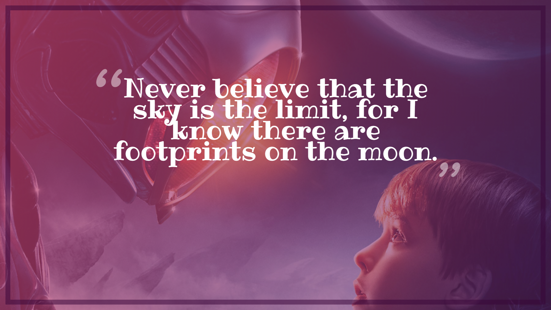 [IMAGE] Never Believe That the Sky is the Limit