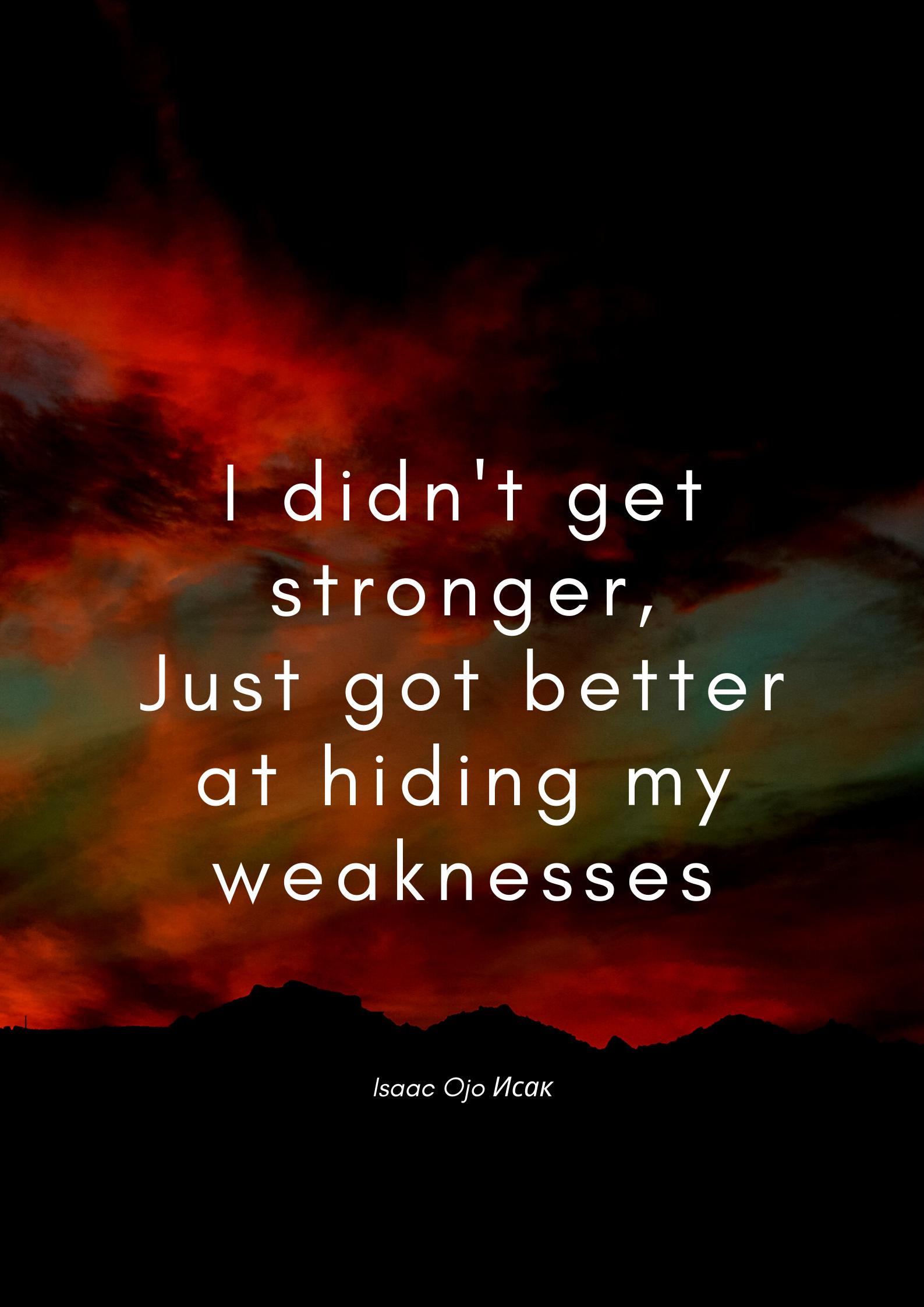 I didn't get stronger – Isaac Hojo [1587×2245]