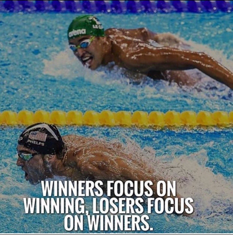 [Image] Winners focus on winning, Losers focus on winners.