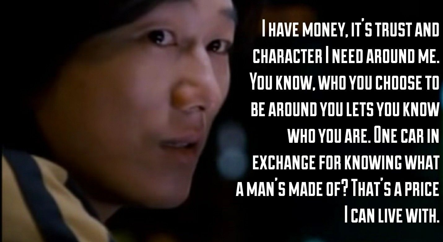 """Life is simple. You make choices and you don't look back."" – Han Lue (Never knew a FaF movie quote would touch my soul…) [1431×783]"