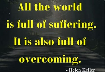"All the world is lull ol sullorinur. II. is also in"" of overcoming. - https://inspirational.ly"