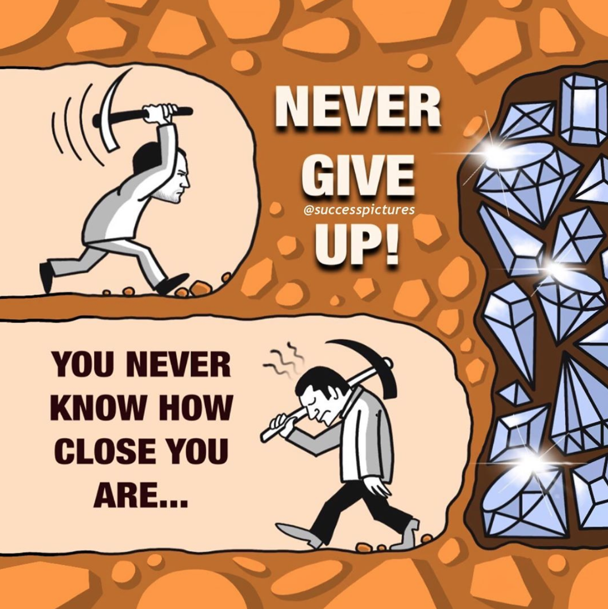 """YOU NEVER 3 /~ KNOW How 997 417.1 CLOSE vou 4'"""". ARE... ' https://inspirational.ly"""