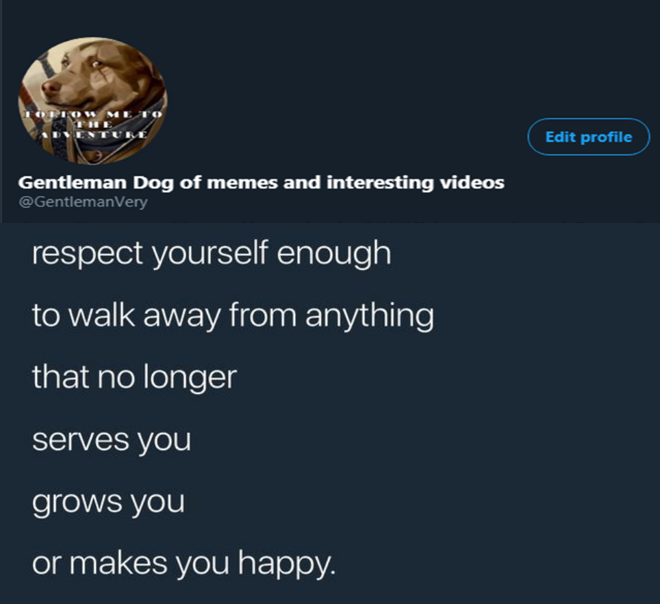 [Image] Respect yourself, you are valuable to yourself and to many more.