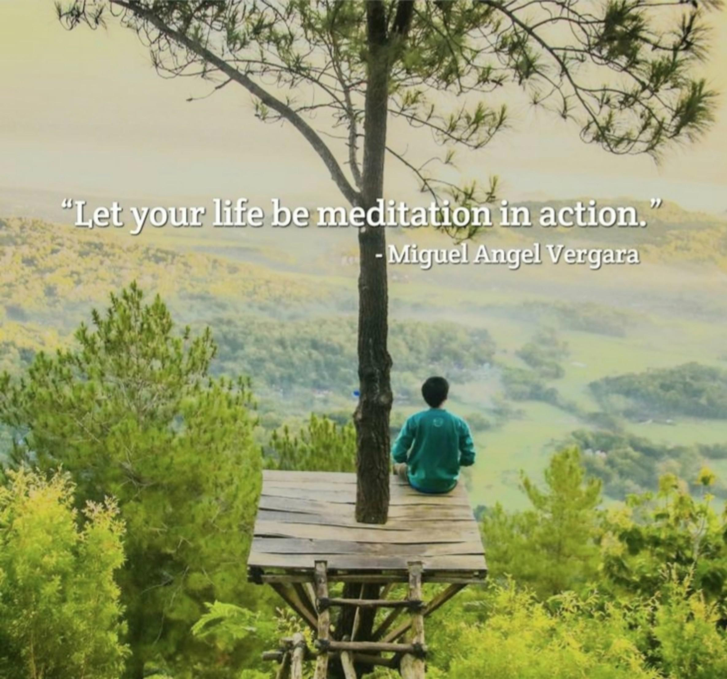 """Let Your Life be Meditation in Action."" -Miguel Angel Vergara [2370X2212]"