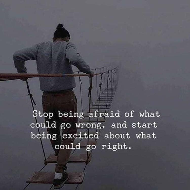 [Image] don't be afraid to break through