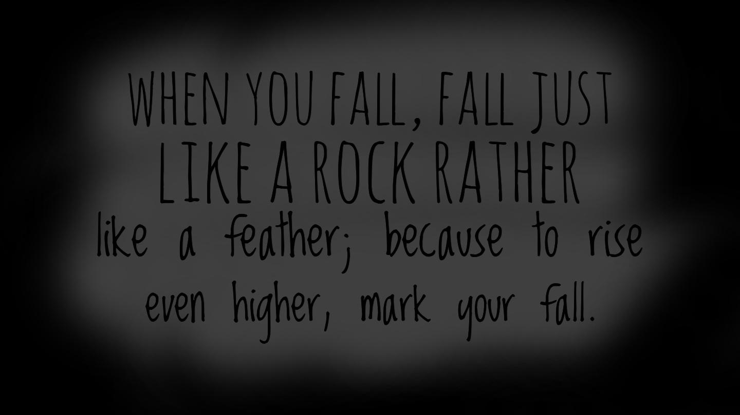 Fall like a rock….. By Kuttayi [1440×809]
