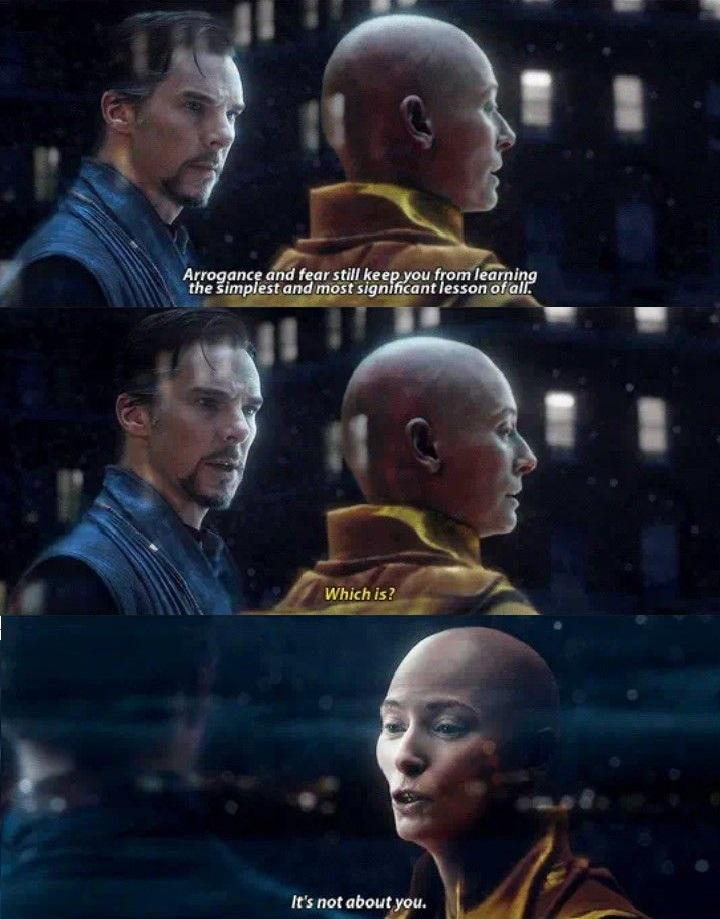 """It's not about you."" – The Ancient One from Doctor Strange [720×945]"
