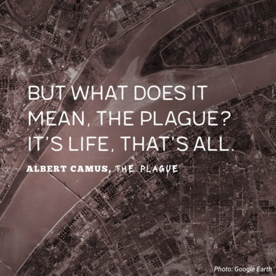 """But what does it mean, the plague? It's life, that's all."""" ― Albert Camus(850×1200)"""