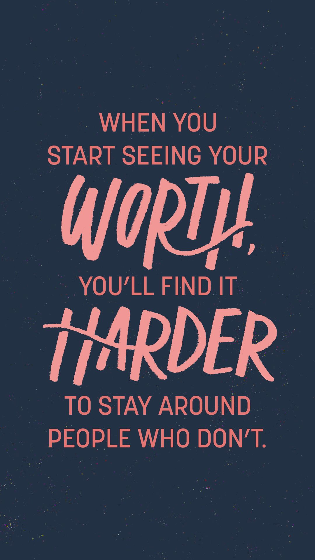 [Image] It's important to recognize your self-worth. Failing to do so will never let you realize your full potential.