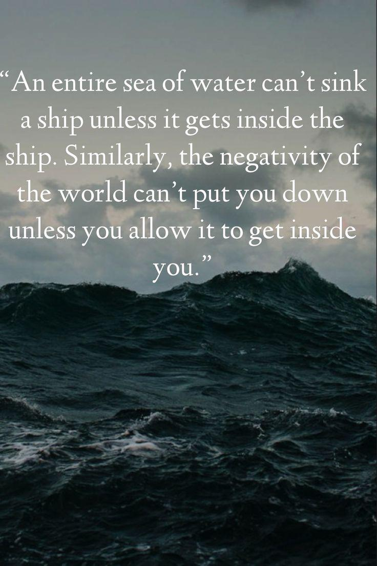 [IMAGE] «Negativity Can't Put You Down Unless You Allow It»
