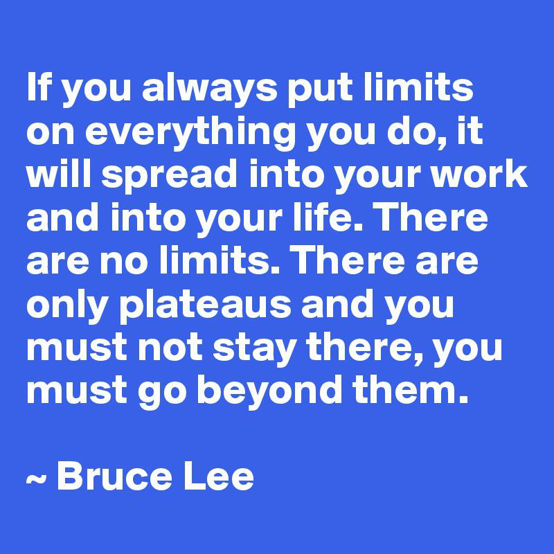 [IMAGE] «There Are No Limits»