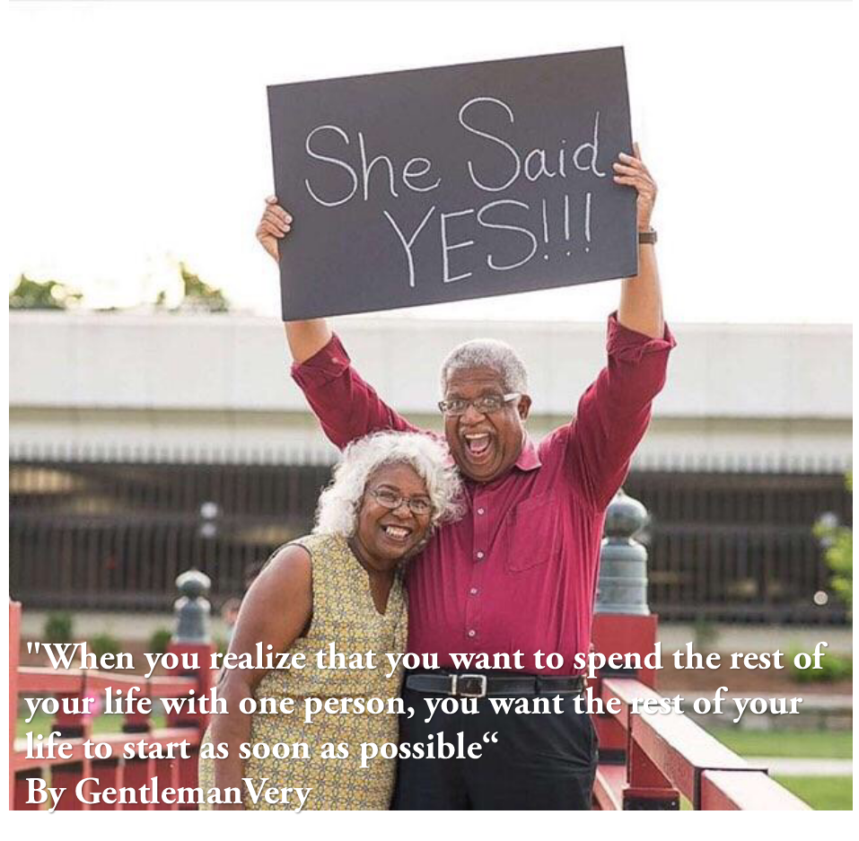 [Image] It does not matter if they are both older when there is love, we all want to start that life together as soon as possible.
