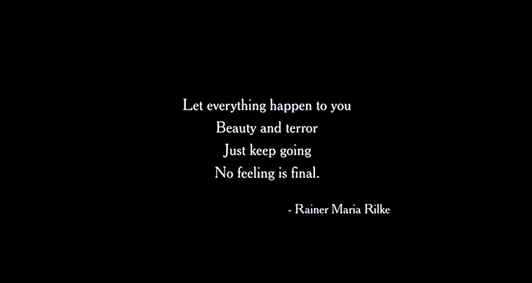 [Image] Just keep going, no feeling is final.