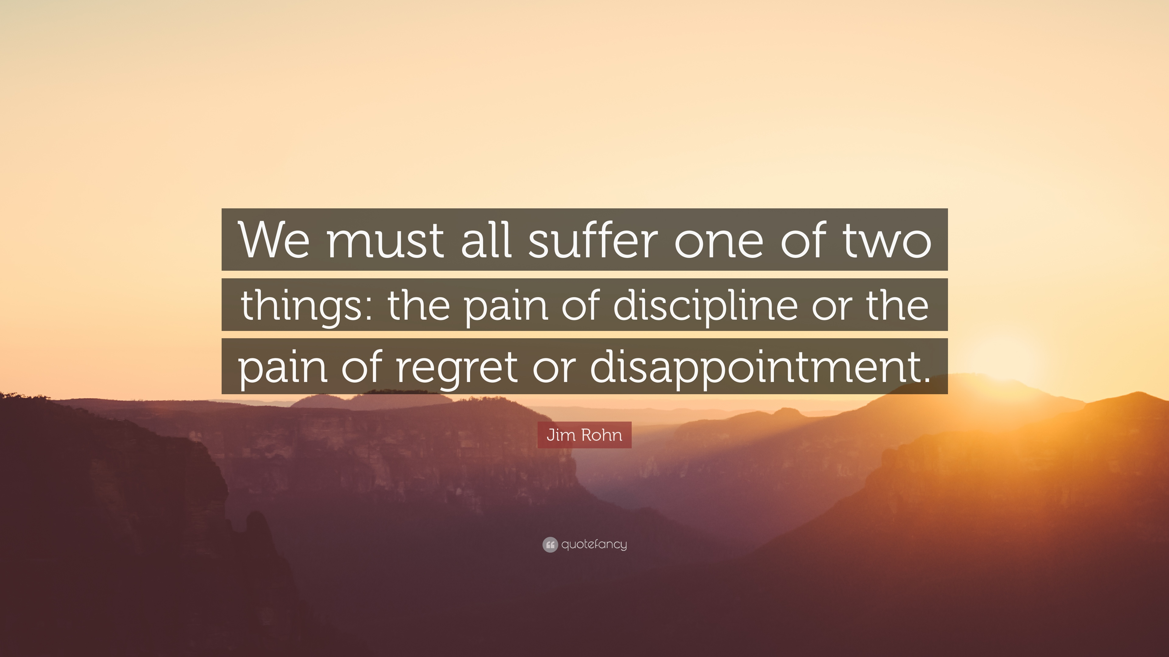 Suffer the pain of discipline or suffer the pain of regret : Rim John [ 3840 X 2160 ]
