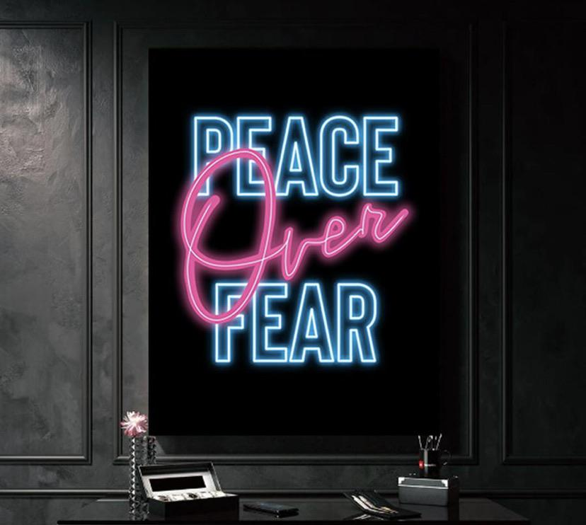 [Image] During this COVID outbreak, I'm declaring PEACE OVER FEAR in my house! Artwork courtesy of GospelCanvas.com