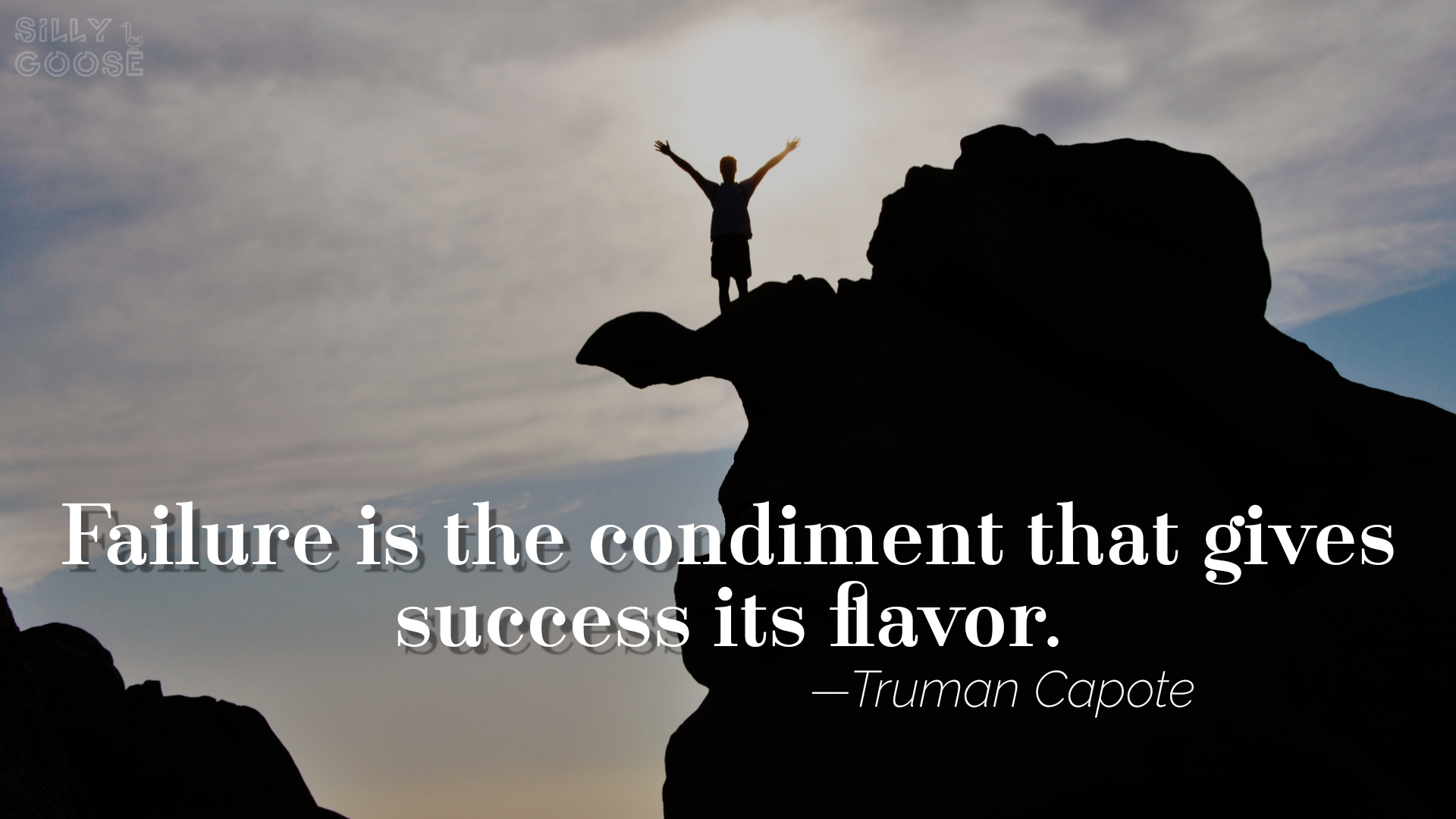 """Failure is the condiment that gives success its flavor."" —Truman Capote [1920×1080]"