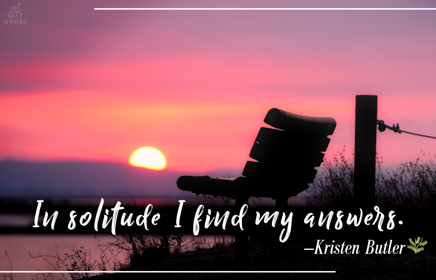 """In solitude I find my answers."" —Kristen Butler [1400×900]"