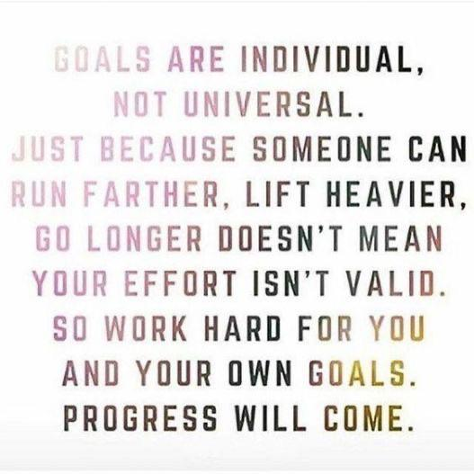 [Image] Goals are individual, not universal