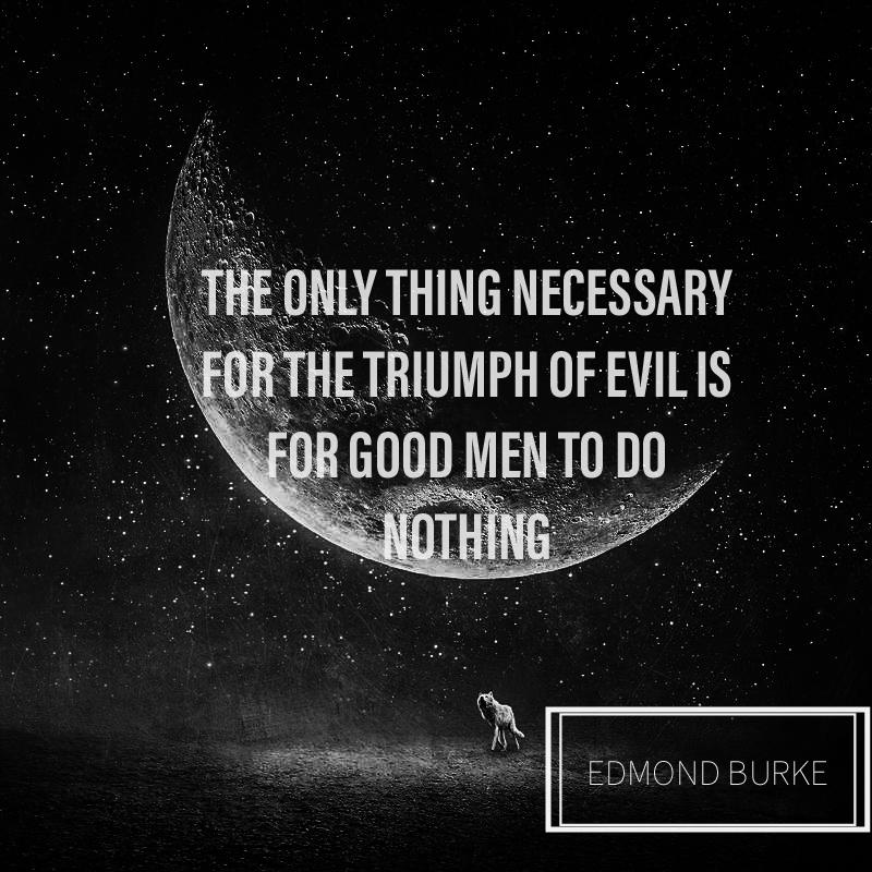 The only thing necessary……. – Edmond Burke [ 800 * 800 ]