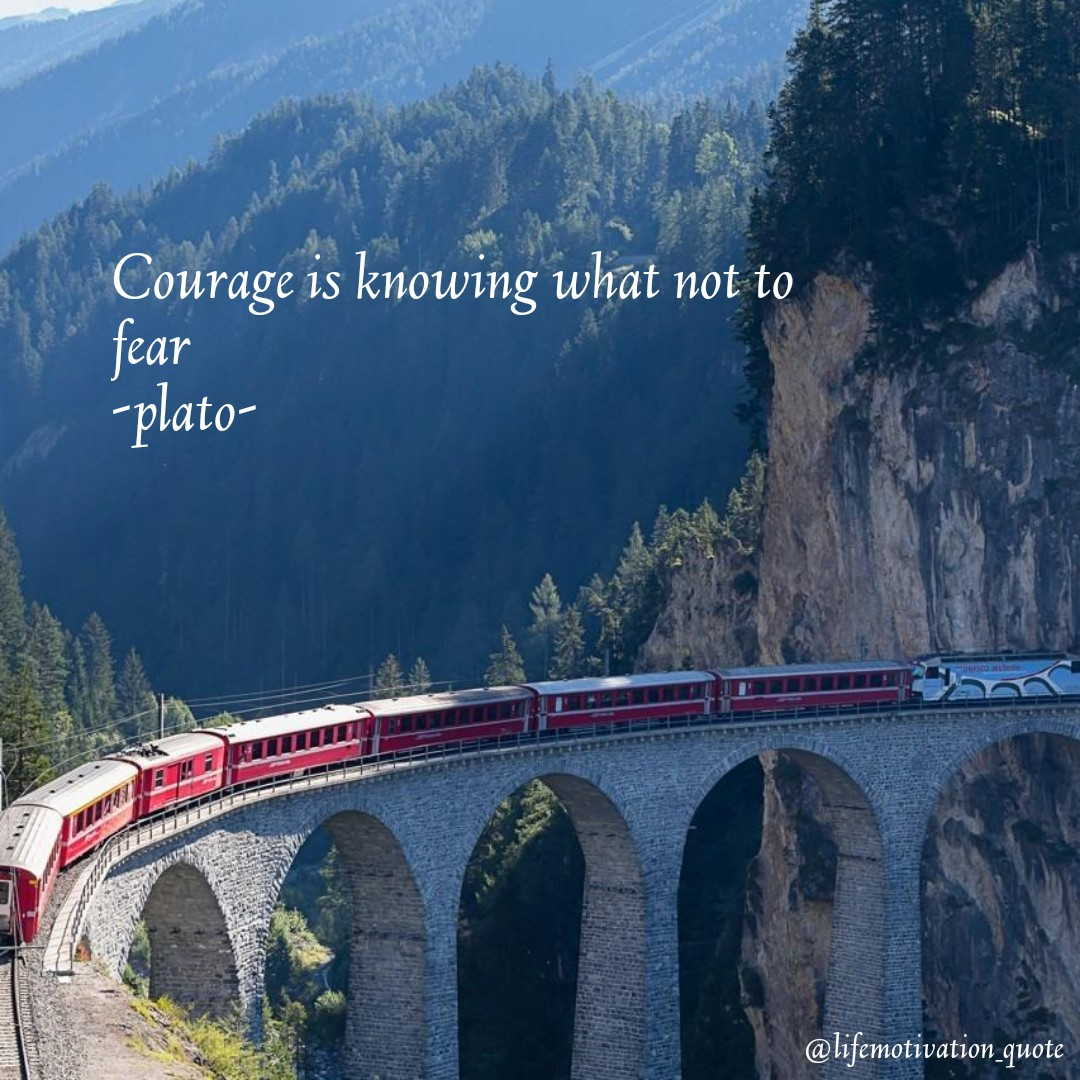 Courage is knowing what not to fear -plato – 1080×1080