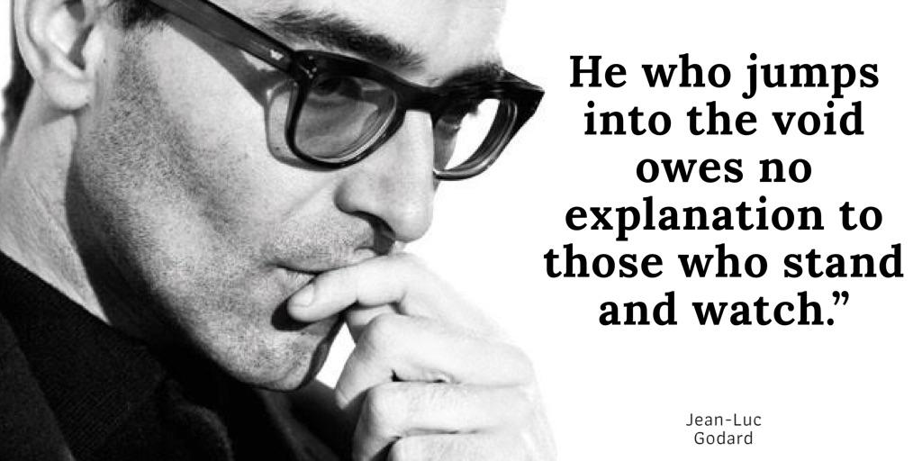 """He who jumps into the void…"" – Jean-Luc Godard [1024×512]"