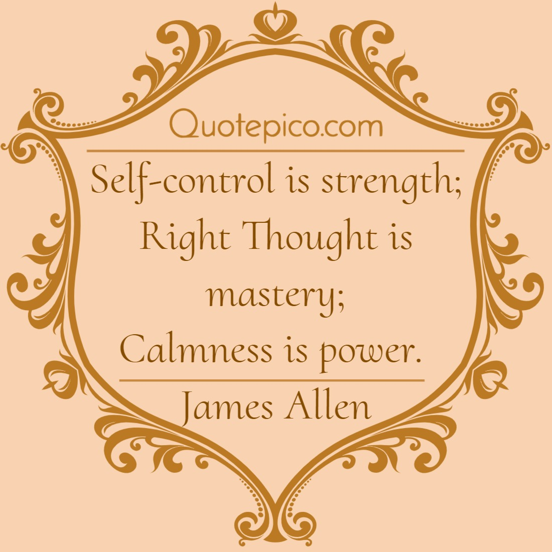 [Image] Calmness is Power – James Allen