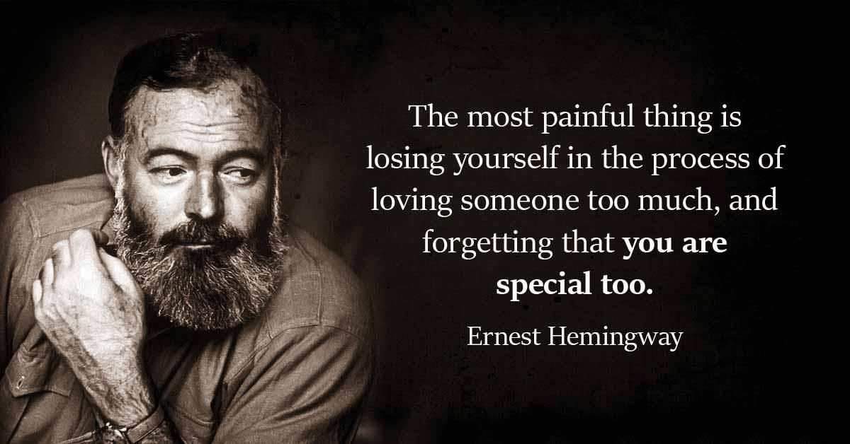 The most painful thing is losing yourself in the process of loving someone too much, and forgetting that you are special too. https://inspirational.ly