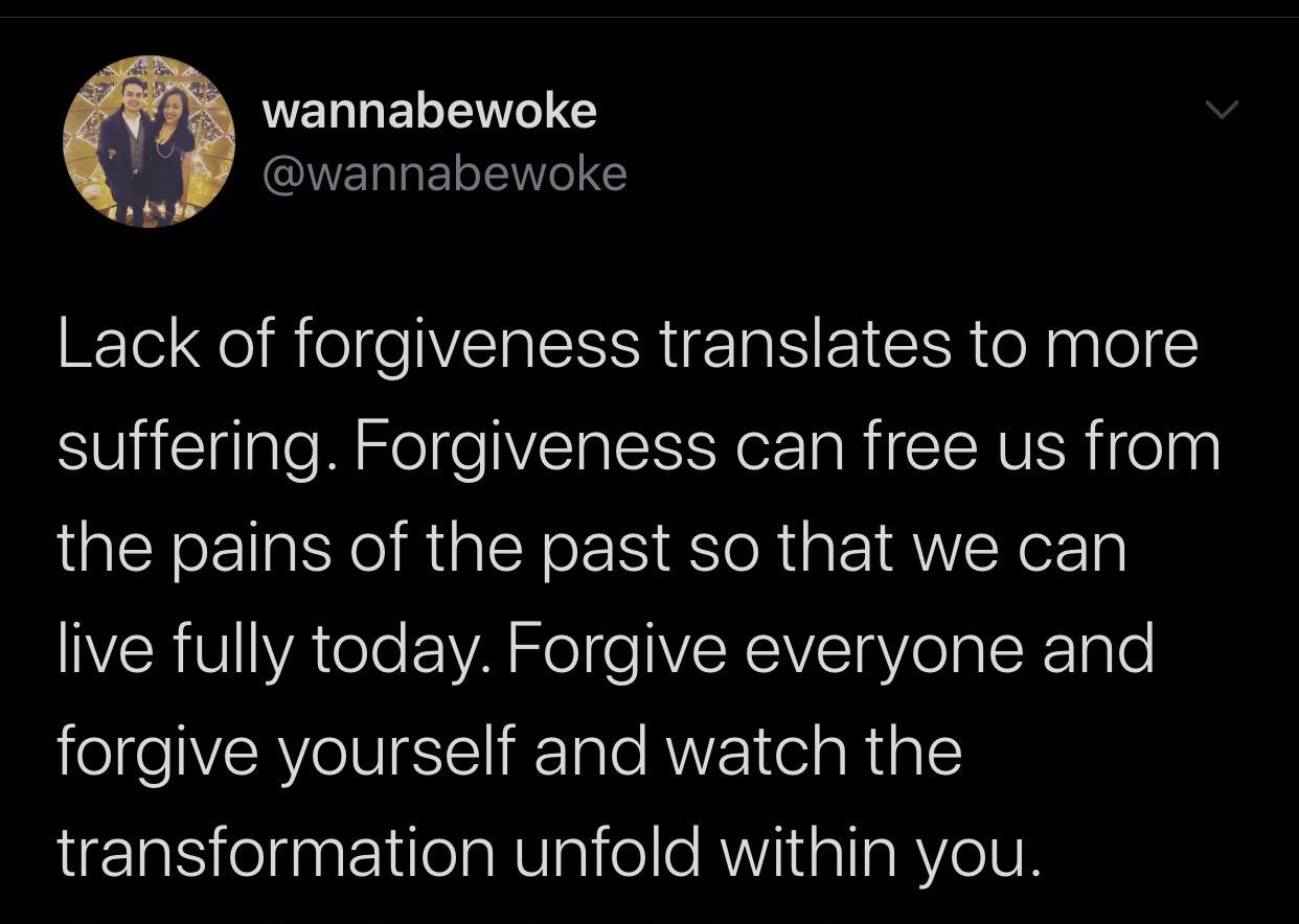 Lack of Forgiveness Translates to More Suffering – Wannabewoke [620 x 360]