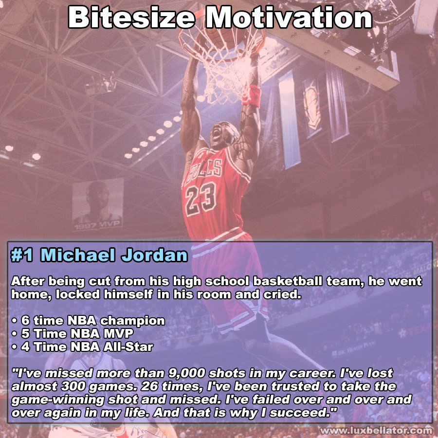[Image] Bitesize Motivation #1 Michael Jordan