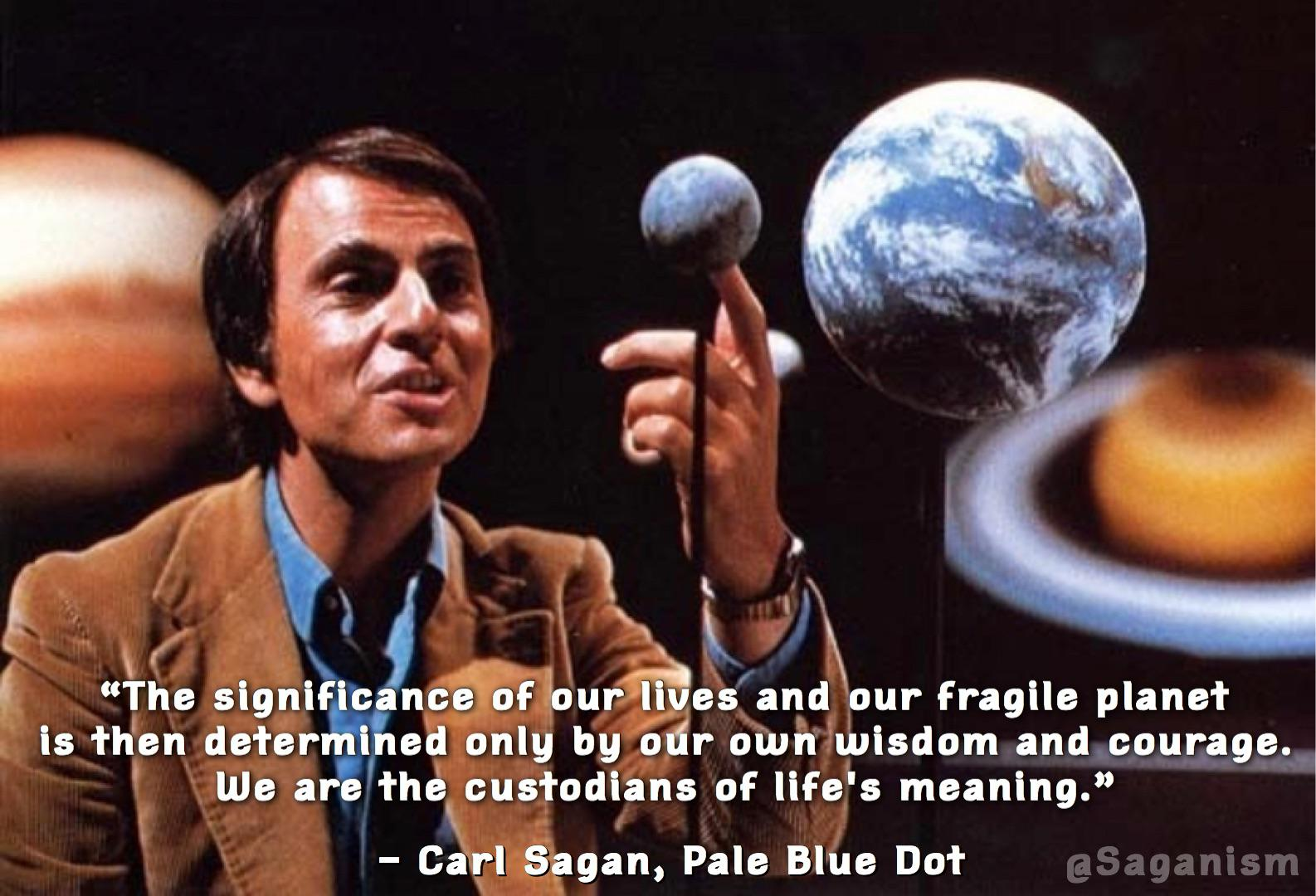 "[Image] Reminder that we are in charge of how the future turns out. ""We are the custodians of life's meaning."""