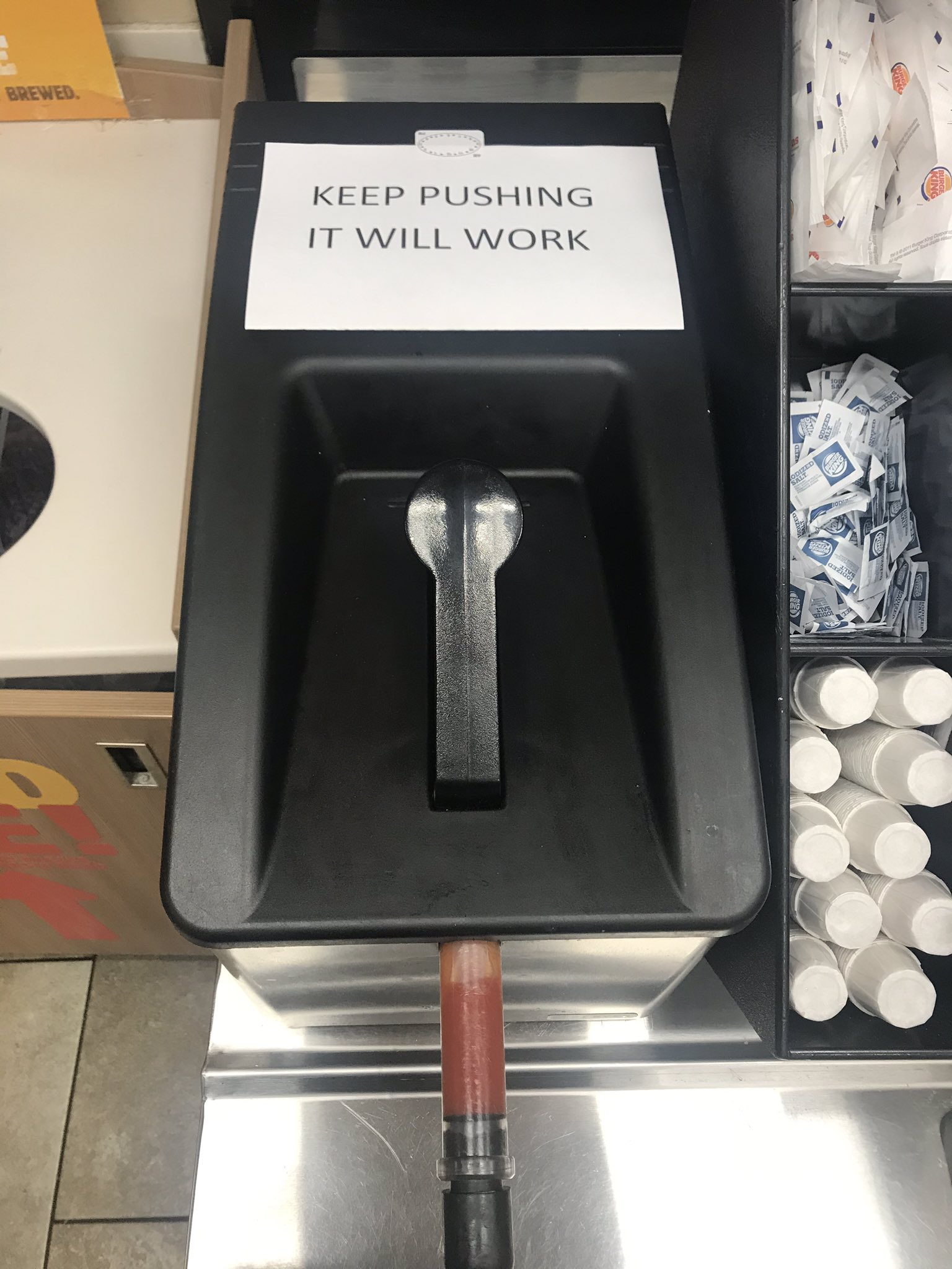 [Image] A surprisingly inspirational ketchup dispenser
