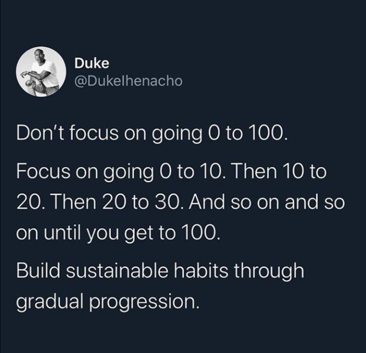 [Image] Take your time. Pace yourself