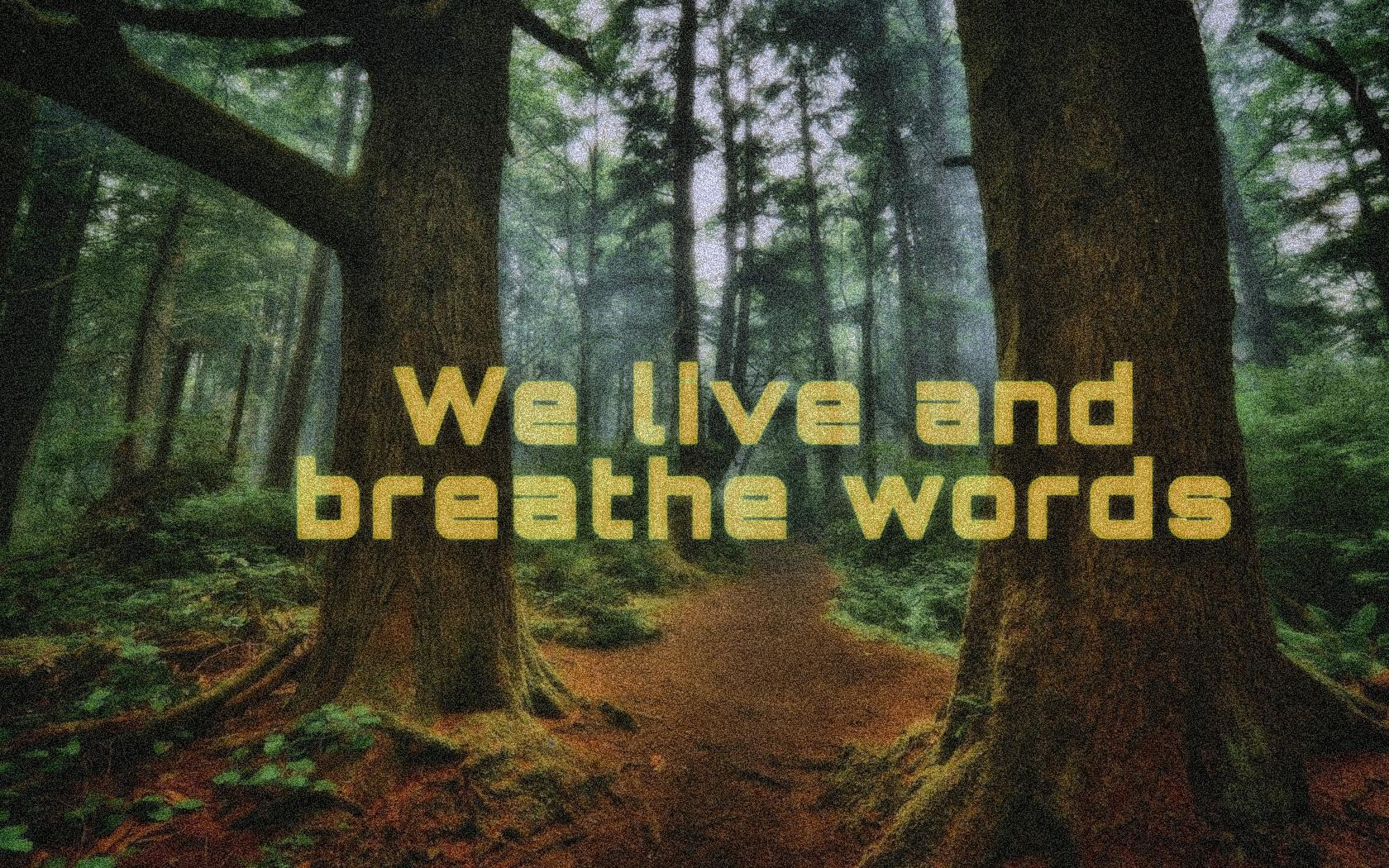 We Iive and breathe words. (Cassandra Clare) (1680×1050)