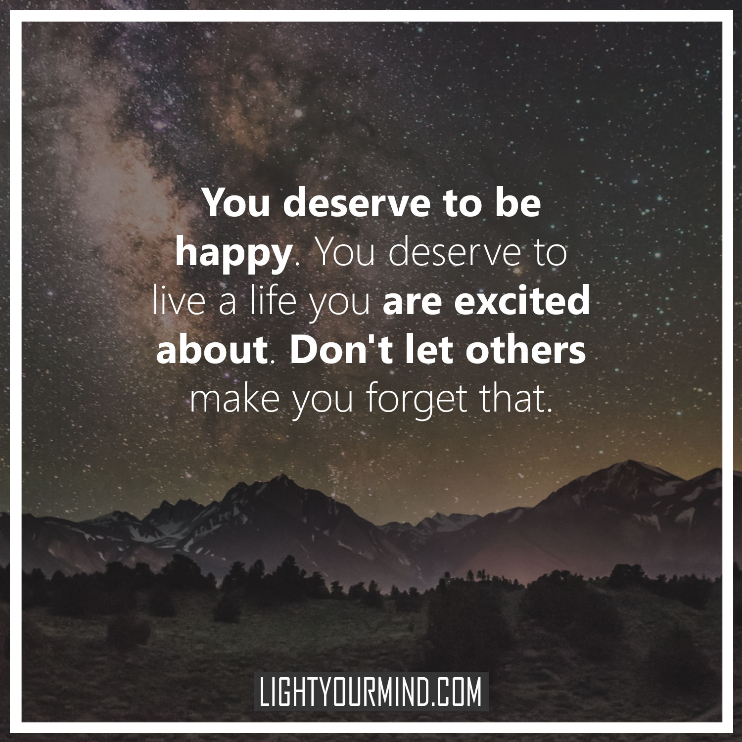 [Image] don't let others make you forget your life
