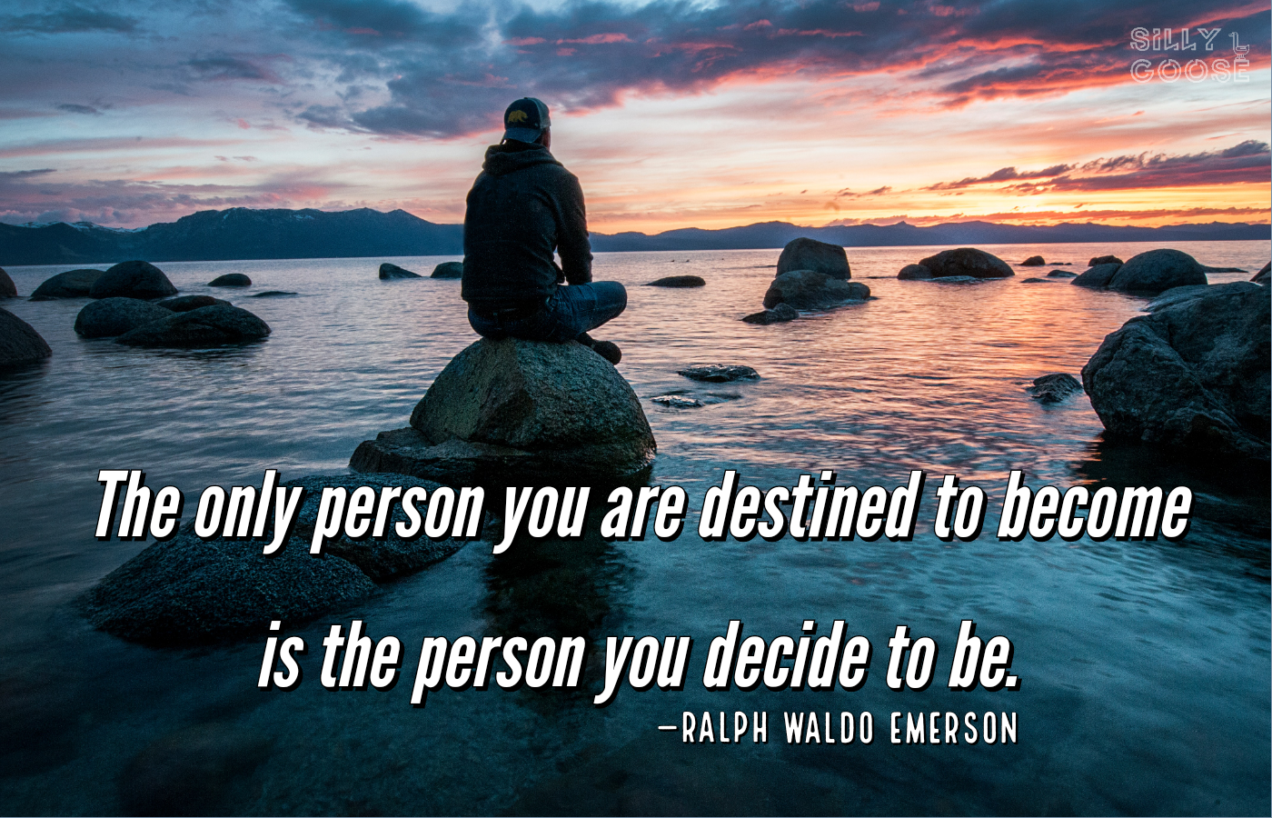 """The only person you are destined to become is the person you decide to be."" —Ralph Waldo Emerson [1400×900]"