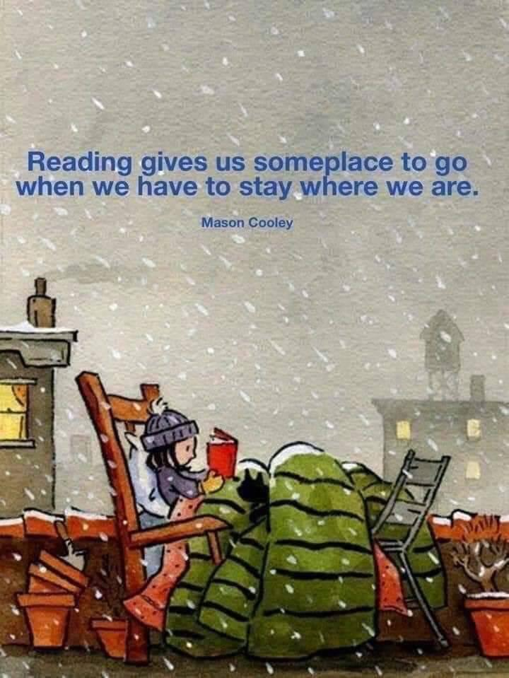 """""""Reading gives us someplace to go when we have to stay where we are"""" – Mason Cooley [1200 x 900]"""