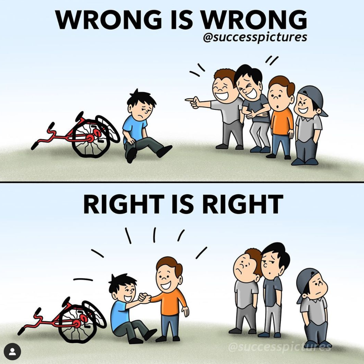 WRONG IS WRONG @successpictures https://inspirational.ly