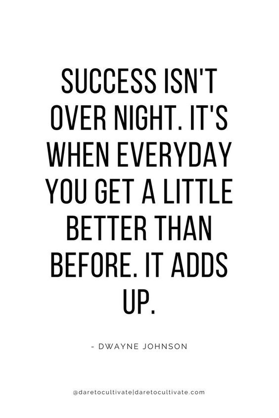 [IMAGE] Success is getting a little better every day