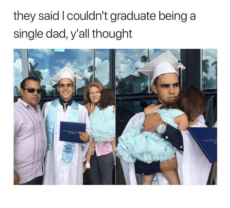 [Image] Young Single Father Proves His Detractors Wrong