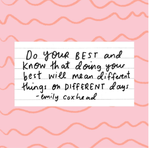 [Image] Just do your best