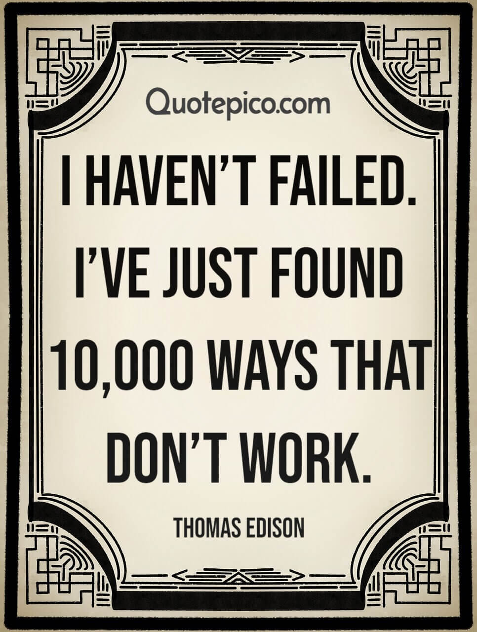 [Image] There are no Failures. Only Opportunity for Improvement