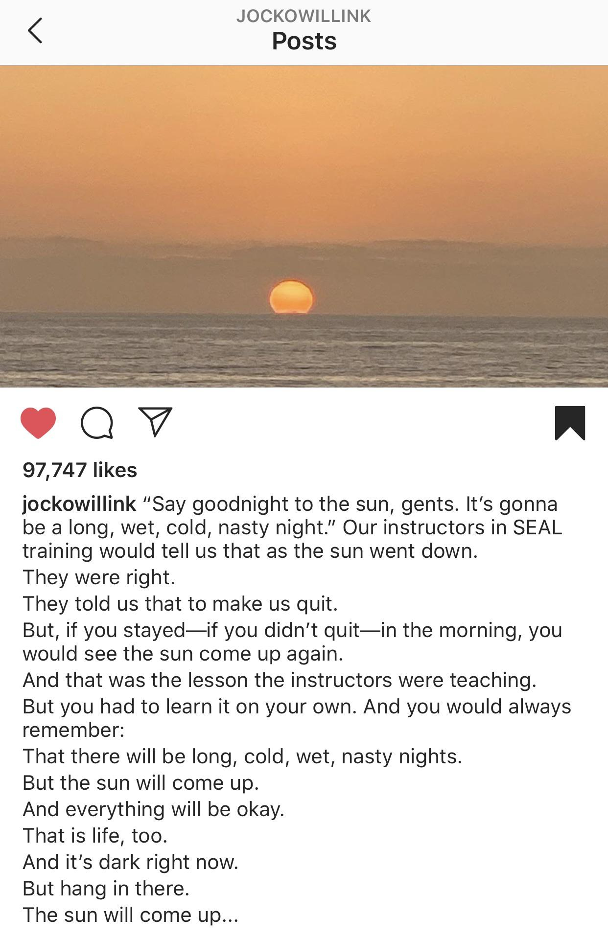 [image] the sun will come up.