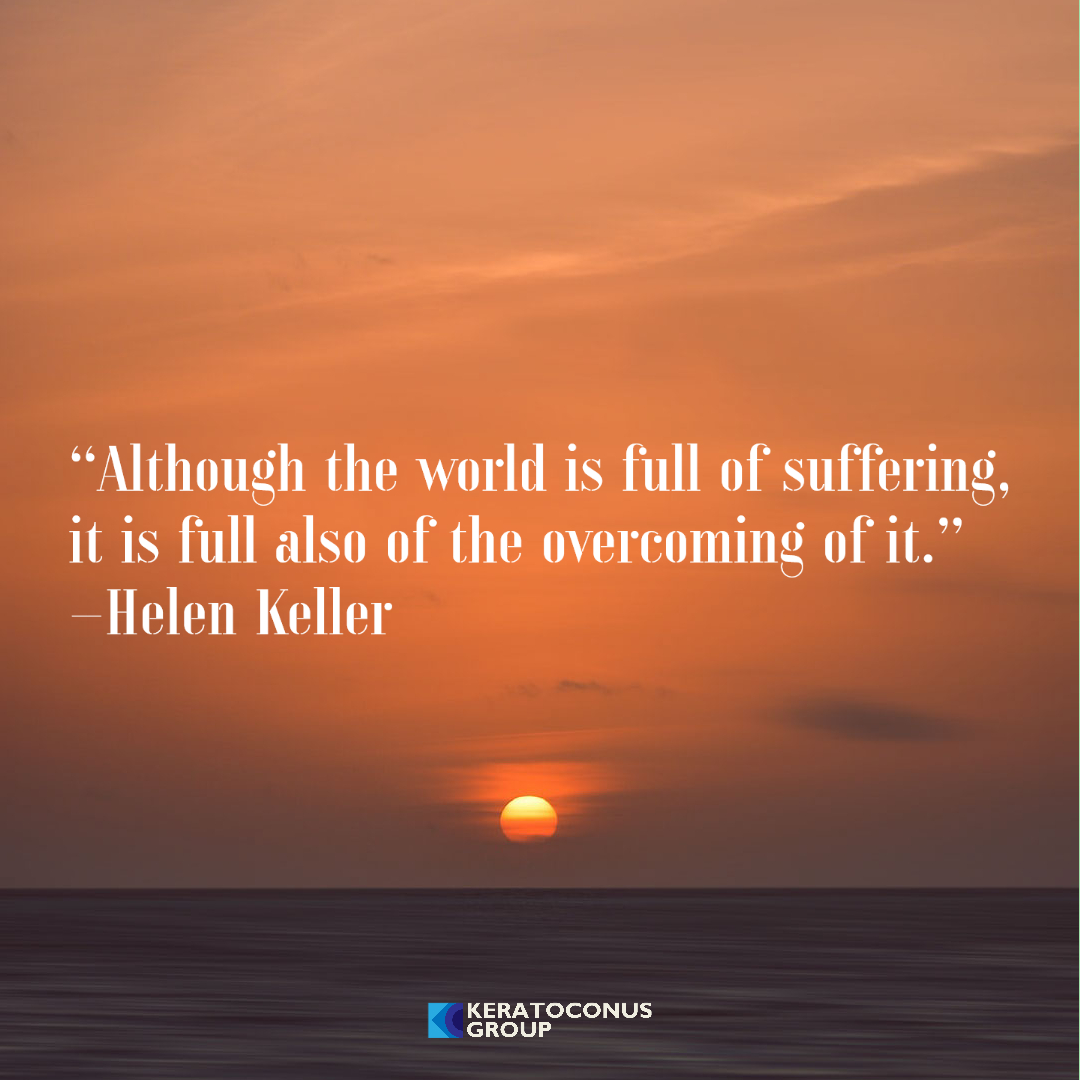 """Although the world is full of suffering, it is full also of the overcoming of it.""–Helen Keller [1080×1080]"