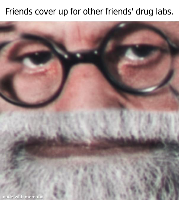 Friends cover up for other friends' drug labs. https://inspirational.ly