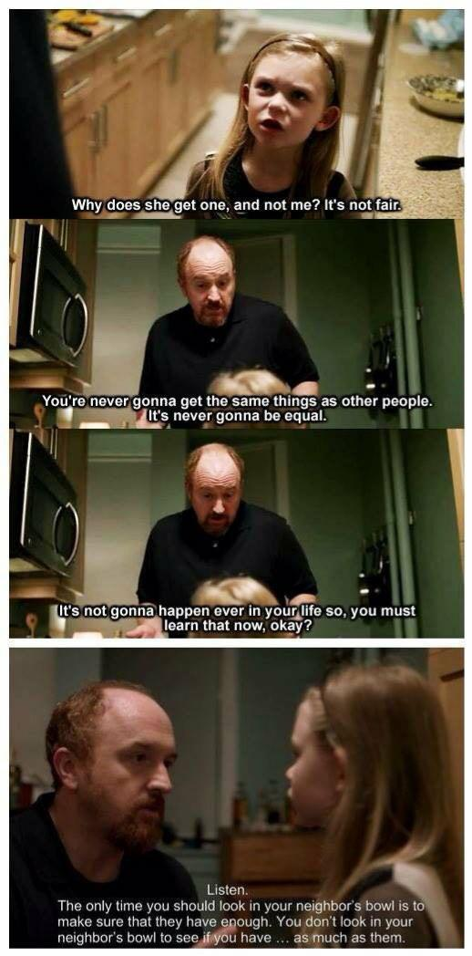 [Image] Wise words from Louis C.K.