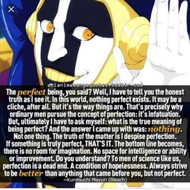 """The Perfect Being you say…"" – Kurotsuchi Mayuri, Bleach [640×640]"
