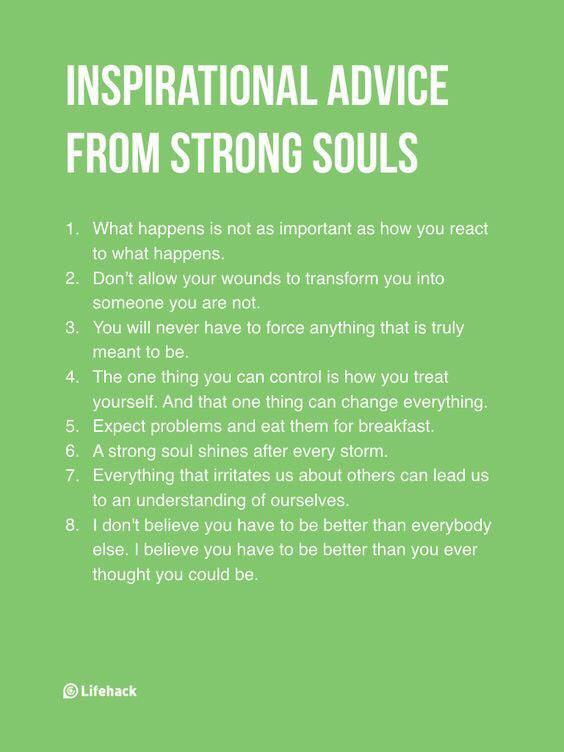 [image] Inspirational Advice from Strong Souls