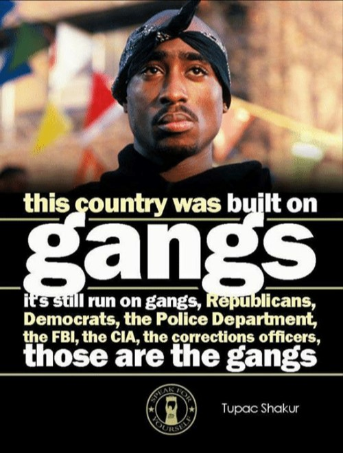 """this country was built on gangs"" – Tupac [500×659]"