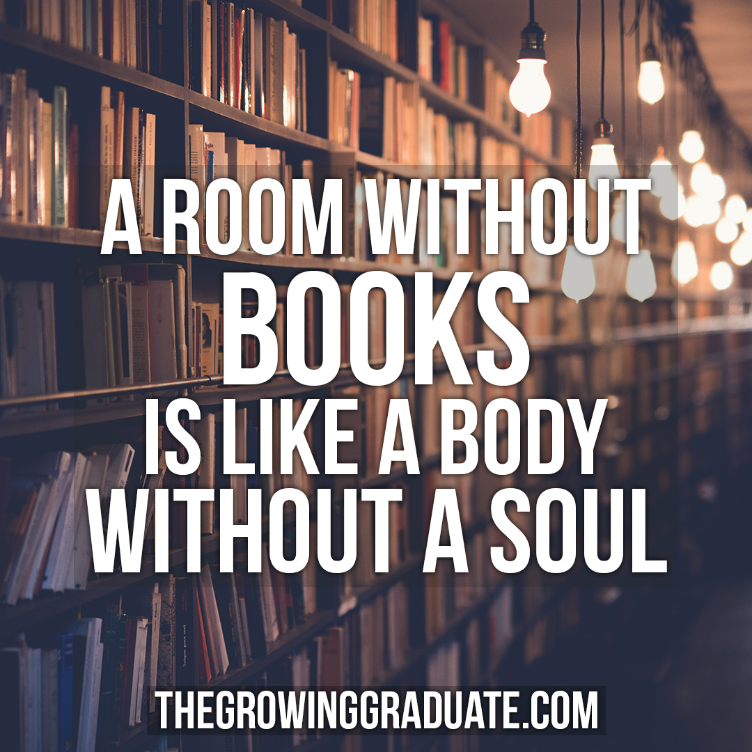 [Image] A room without books is like a body without a soul.